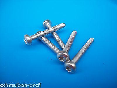 Linsenkopf Schrauben DIN 7985 KREUZ Edelstahl V2A M3 x 3 M3 x 50 mit Muttern