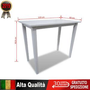 Tavolini Da Salotto Arredamento.Tavolo Da Bar In Legno Bianco Tavolino Da Salotto Cucina Arredo Da