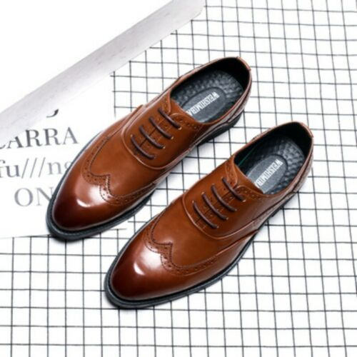 British Summer Mens Carving Hollow Out Business Leisure Leather Brogues Shoes