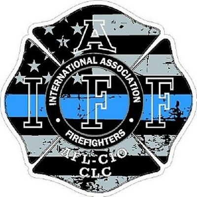 2 Inch Non-Reflective IAFF Retired Firefighter Maltese Sticker Decal