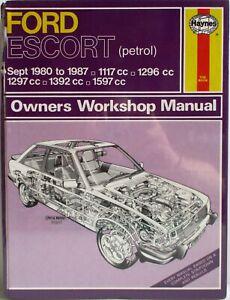 Haynes-Ford-Escort-Sept-1980-87-Tous-Modeles-Proprietaire-Atelier-Manuel