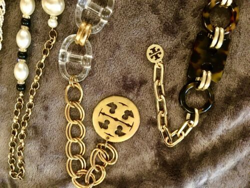 2 Tory Burch Chain Belts & 3 Belts Sell Together T