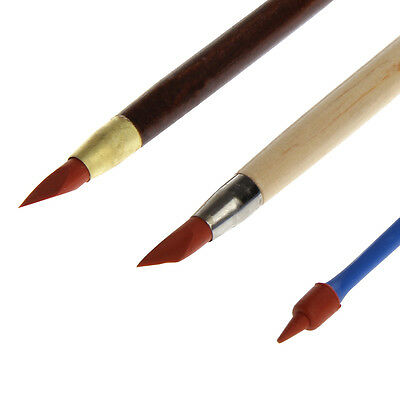 3Pcs Pottery Clay Sculpture Carving Tools Art Craft Supplies Rubber Pens