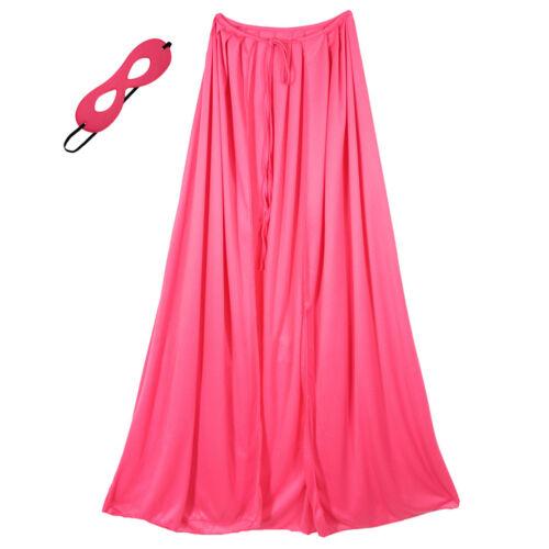"39/"" Adult//Teen Pink Superhero Cape /& Mask Costume Set ~ HALLOWEEN COSTUME PARTY"