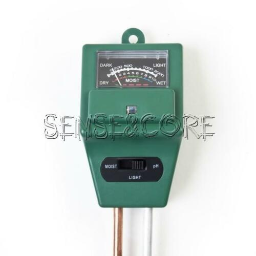 For Garden Plant Flower 3 in1 PH Tester Soil Water Moisture Light Test Meter New