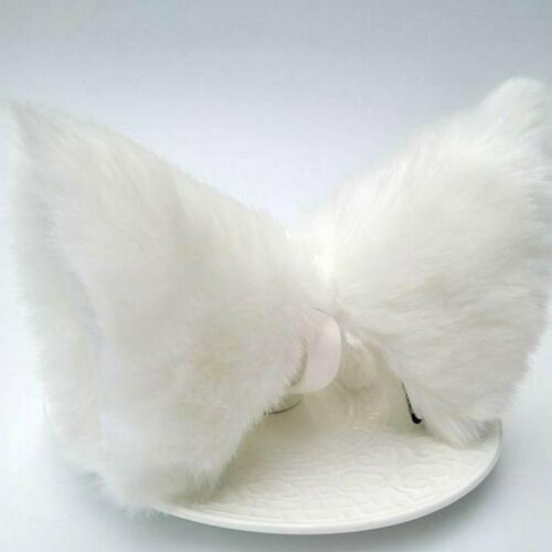 Cosplay Party Cat Fox Long Fur Ears Costume Hair Clip Halloween Orecchiette