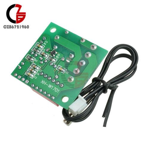 DC 12 V Heat Cool Temp Thermostat numérique de température Interrupteur de contrôle 20-90 ℃ W1701