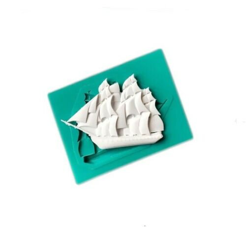 Yacht Silicone Mould for Sugar Craft Baking etc Fondant Cake Decorating