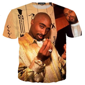 f8519988 Details about Women/Men 2pac Tupac Hip Hop Funny 3D Print Casual T-Shirt  Tee Short Sleeve T78