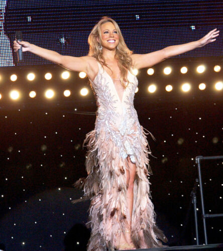 Roberto Cavalli FW2003 Blush Crystal Feather Gown - image 1