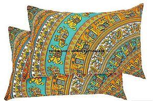 2-Pcs-Elephant-Mandala-Pillow-Cushion-cover-Indian-Bed-sofa-Throw-Case-sham