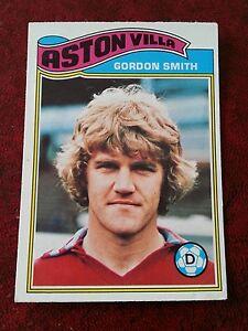 ORANGE BACK 1978 GORDON SMITH -#272- ASTON VILLA TOPPS-FOOTBALL