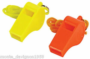 4 Plastic Whistle & Lanyard Emergency Survival, Party's
