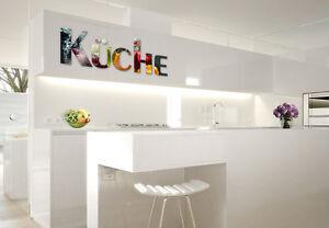 Details zu Acrylbuchstaben Küche 10D Dekobuchstaben Wandschmuck Wandspruch  Wanddeko Deko
