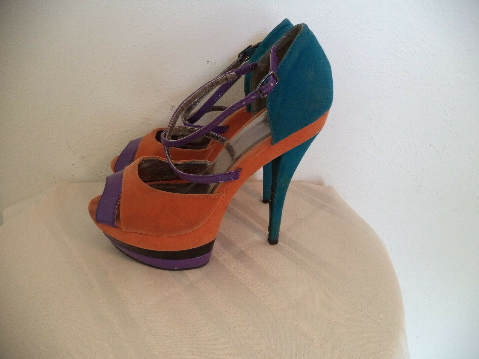 Women's Multi - Shoes. Color Wild Rose Platform Shoes. - 8. High Heels. 324ec1