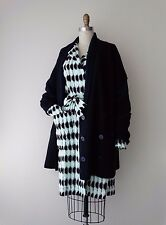 Balenciaga Paris Navy Wool Double Breasted Sweater Cardigan Jacket Sz 42