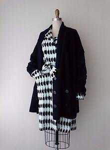Double Jacket Cardigan Breasted Paris 42 Navy Balenciaga Sz Sweater Wool qwYt0x6x