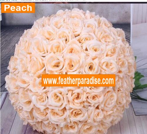 Burgundy Rose Flower Ball Pomander Wedding Ball Kissing Ball 9-10 inches