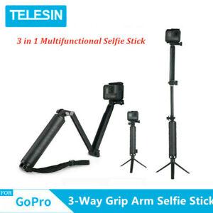 TELESIN-Selfie-Stick-braccio-Grip-3-Way-Treppiede-portatile-impermeabile-per-GoPro