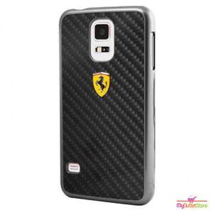 san francisco 340f9 ab036 Details about Ferrari Real Carbon Fibre Ultra Slim Hard Case Samsung Galaxy  S5 Black