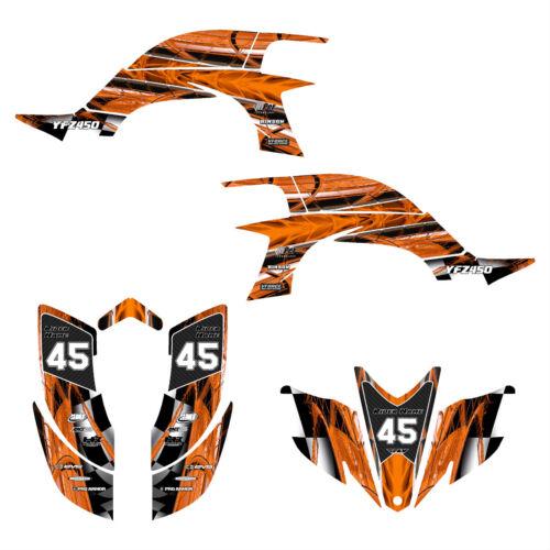 Yamaha YFZ 450 graphics 2003 2004 2005 2006 2007 2008 decal kit #2001 Orange