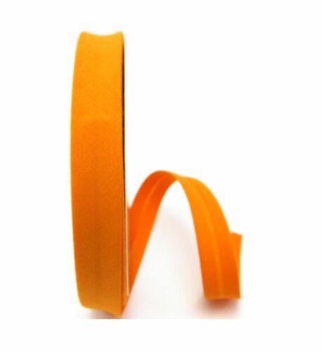 1meter Meterware Schrägband Baumwolle 18mm Kantenband nähen mandarine