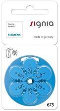 Siemens Talla 675 Mercurio Libre Audífono Baterías Células x60 (Nuevo Embalaje)