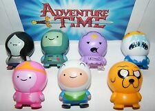 Adventure Time Buildable Toy Figure Set of 7 with Finn, Jake and Bonus Tattoo