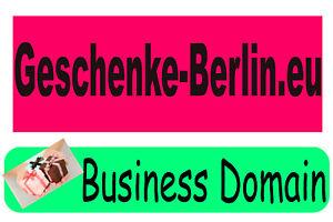 ** geschenke-berlin.eu ** Aktive Domain, 5 Jahre alt, Business domain