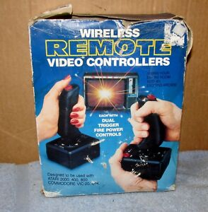 Vtg-RGA-118-Wireless-Remote-Controllers-Video-Game-Gaming-Atari-Commodore-J0325