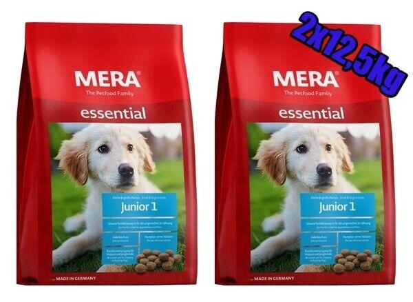 MERA Dog Essential Junior 1, Hundefutter Trocken Pack 2 x 12,5 kg