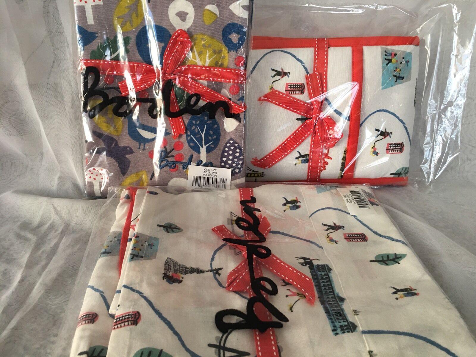 Boden Tablier de cuisine gants et torchons SET London Hiver Imprimé importé New