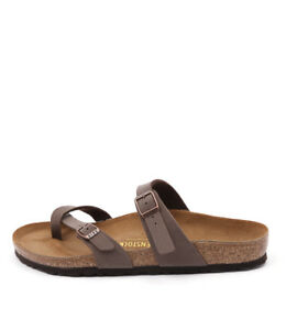 Image is loading New-Birkenstock-Mayari-Mocca-Womens-Shoes-Casual-Sandals- 61989387e94