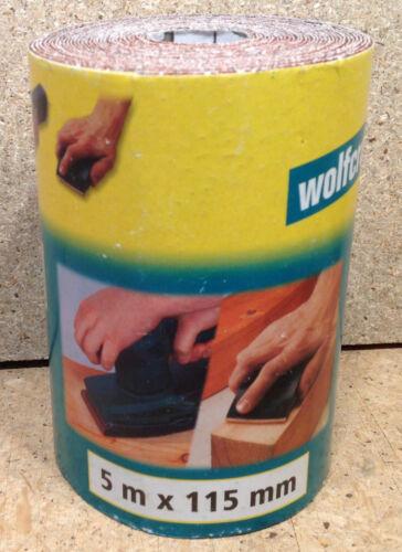 Wolfcraft 1 Rolle Schleifpapier  Schleifpapierrolle  5m x 115mm  K 180   1775000