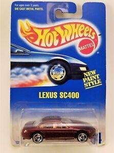 HOT WHEELS 1991 COLL #264 LEXUS SC400 BLUE CARD