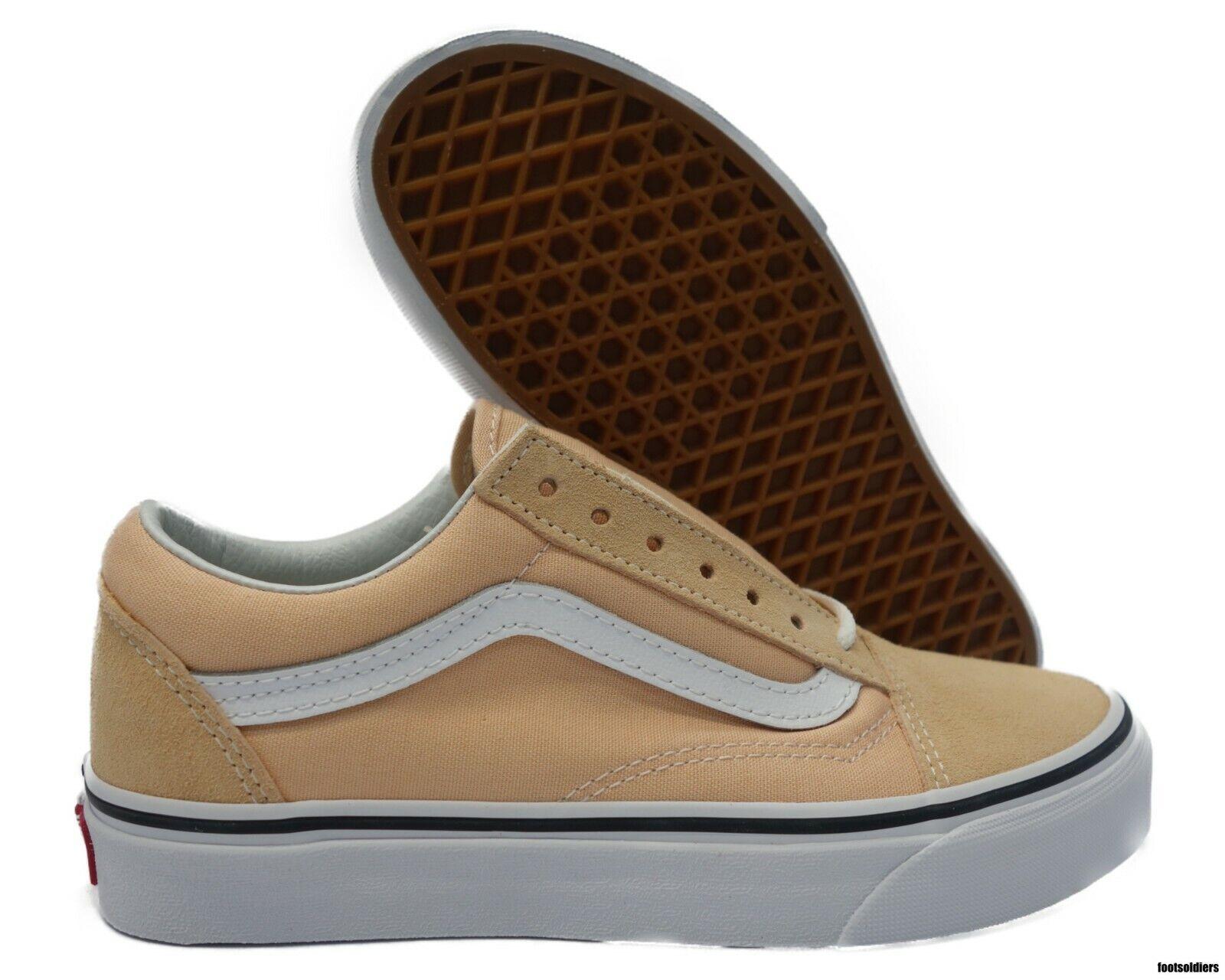 VN0A38G1U5Y Vans Old Skool (Bleached Apricot   White) Men Size 10