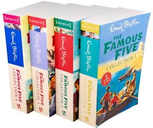 Enid-Blyton-The-Famous-Five-4-Book-12-Story-Collection-Treasure-Island-Adventu