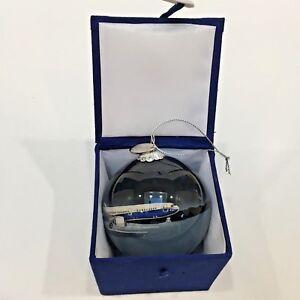 Boeing-787-8-Dreamliner-Plane-Ornament-amp-Charm-Holiday-Souvenir-Glass-Boxed