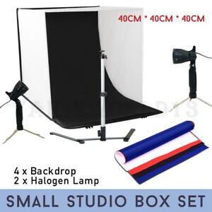Photography-Studio-Photo-Light-Tent-40CM-Cube-4x-Backdrops-Soft-Box-Lighting-Kit