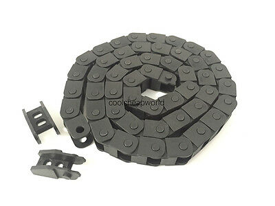"""5pcs Cable Drag Chain Wire Carrier 10*10mm 10mm x 10mm R18 1000mm 40"""" for CNC"""