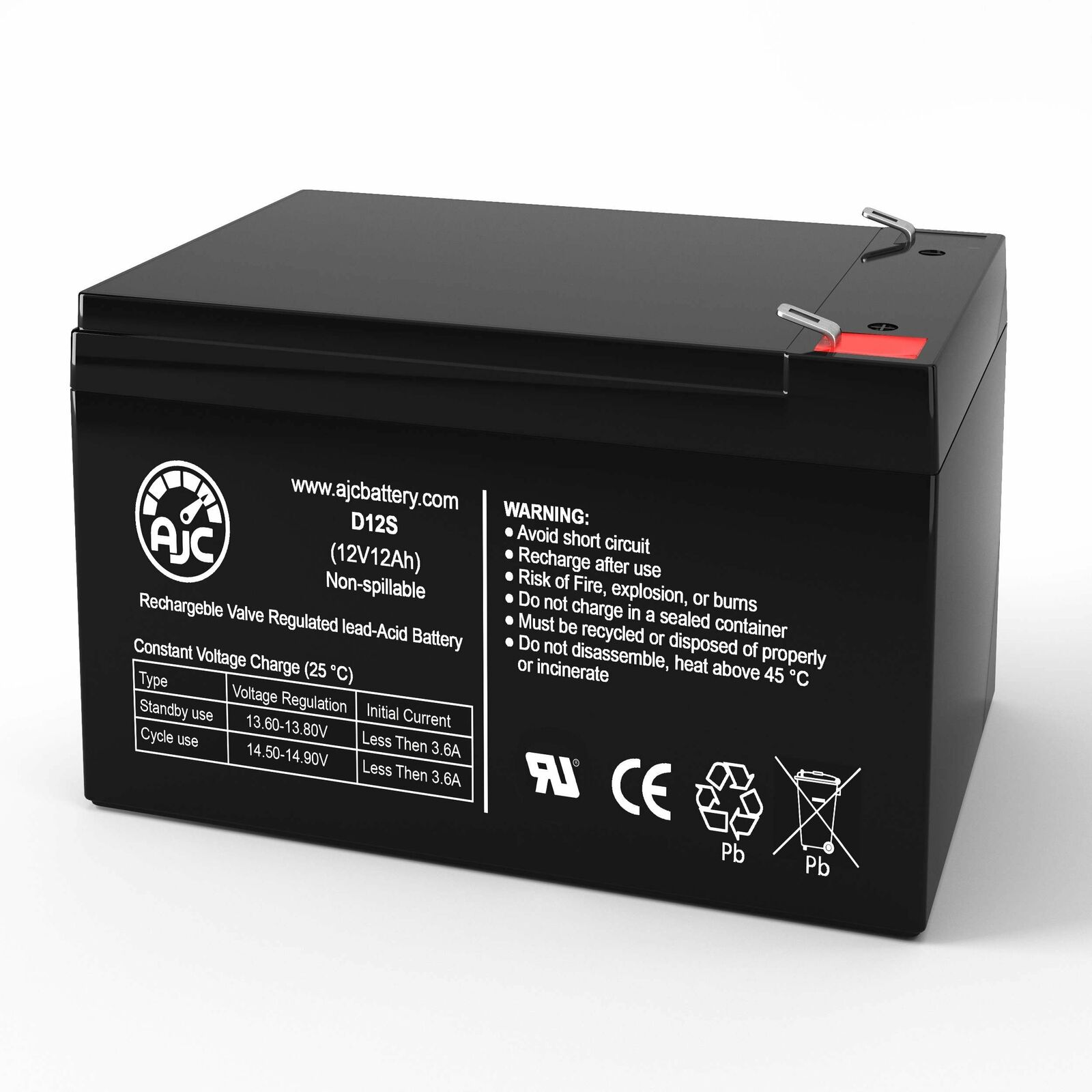 UltraTech UT-12120 12V 12Ah Sealed Lead Acid Replacement Battery