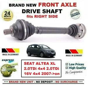 FOR-SEAT-ALTEA-XL-2-0TDi-4x4-16V-4x4-2007-gt-on-1x-NEW-FRONT-AXLE-RIGHT-DRIVESHAFT