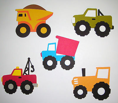 2 Dump Trucks Premade PAPER Die Cuts Scrapbook /& Card Making