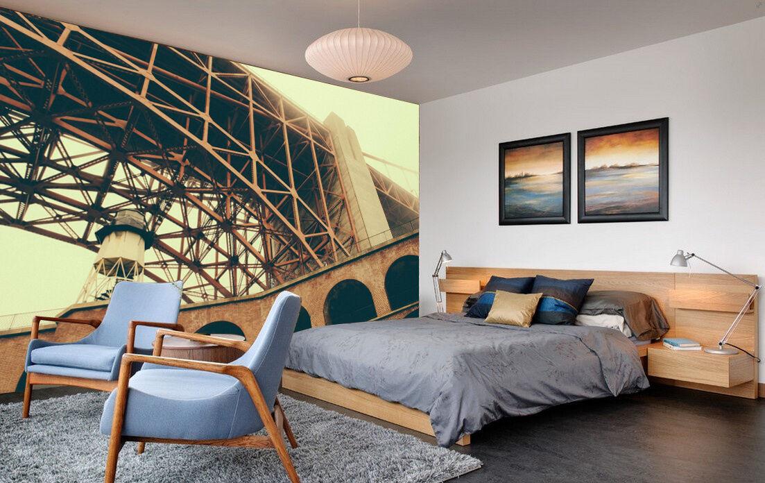 3D Bâtiment 1 Photo Papier Peint en Autocollant Murale Plafond Chambre Art