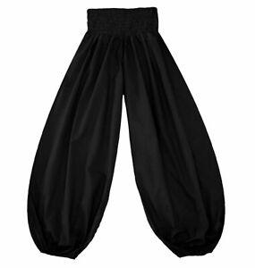 Schwarze Pumphose Pluderhose Größe 38-40 Baumwolle aus INDIEN