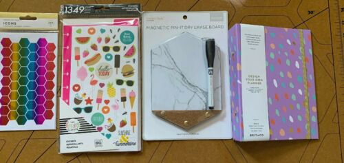 Back To School! Planner Dry Erase Board! Huge lot 1,553 Total stickers Mom