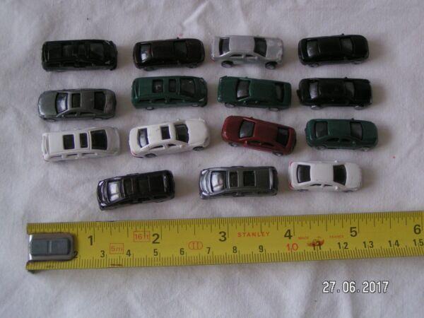 15 X Piccoli Modellini Di Automobili Per Modellino Ferroviario