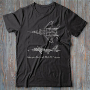 cb1a3a86c14 Details about Military T-shirt MiG 29 Fulcrum, Jet Fighter plane, Russian  Airforce, CCCP