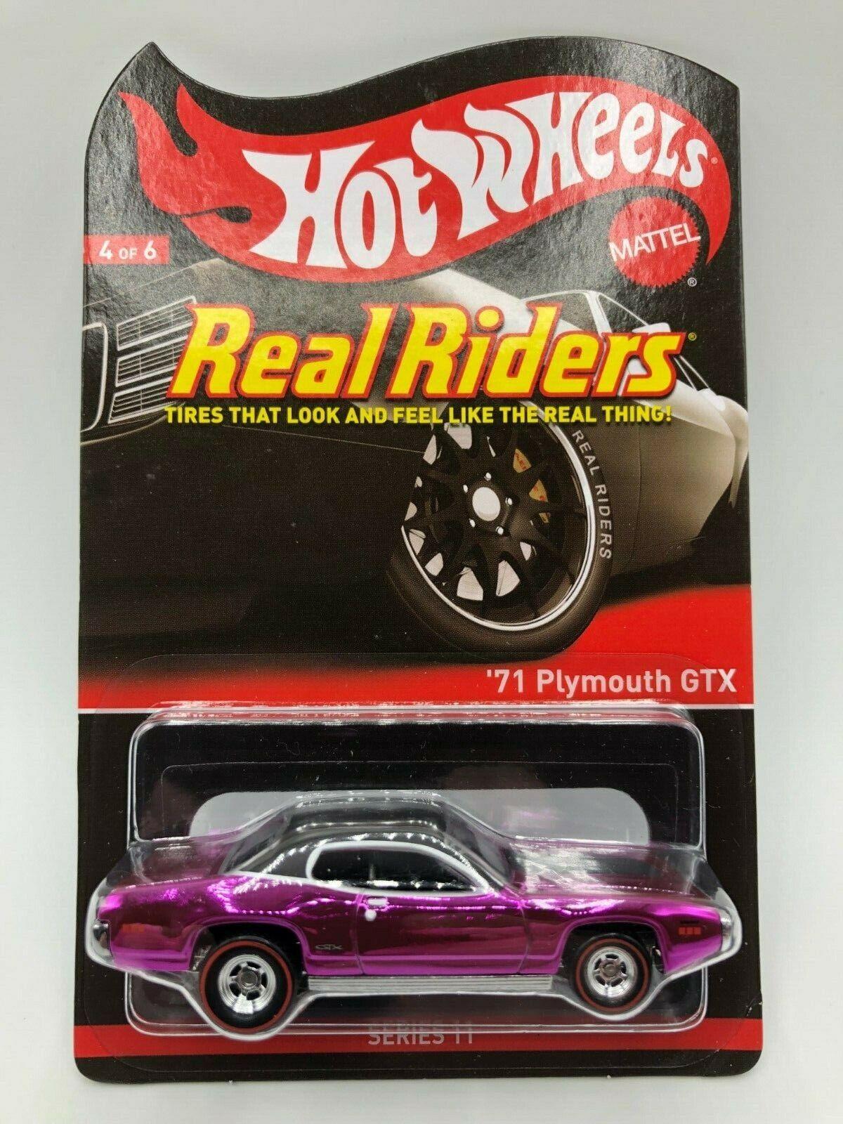 servicio considerado Hot Wheels rojoline Real Riders 71 Plymouth Gtx Gtx Gtx serie 11 mibp 2012  2627 4000  entrega rápida