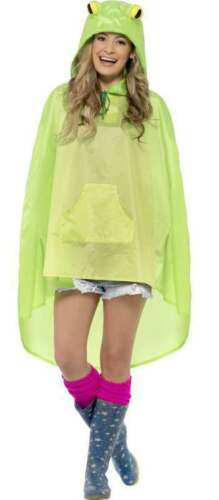 ADULT UNISEX FROG PARTY//FESTIVAL PONCHO FANCY DRESS COSTUME